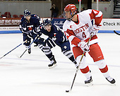 Adam Clendening (BU - 4) - The Boston University Terriers defeated the visiting University of Toronto Varsity Blues 9-3 on Saturday, October 2, 2010, at Agganis Arena in Boston, MA.