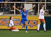 Ally Courtnall. UCLA advanced on penalty kicks after defeating Virginia, 1-1, in regulation time at the NCAA Women's College Cup semifinals at WakeMed Soccer Park in Cary, NC.
