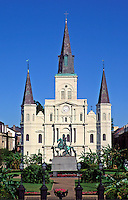 USA,Louisiana, New orleans. Saint Louis Cathedral and Jackson Square