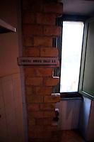 Roma 31 Gennaio 2010.Museo Storico della Liberazione .Via Tasso 155,  era il Comando SS e Gestapo, della polizia Nazista  durante l'occupazione da parte delle  Germania durante la Seconda Guerra Mondiale..Le celle dove venivano tenuti i combattenti della resistenza romana..Rome, January 31, 2010.Historical Museum of the Liberation.Via Tasso 155, was the SS and Gestapo Command, the police during the Nazi occupation by Germany during the Second World War..The cells were kept where resistance fighters Roman