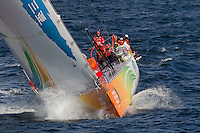 FRANCE,  Point Penmarc'h. 1st July 2012. Volvo Ocean Race, Leg 9 Lorient-Galway. Team Sanya.