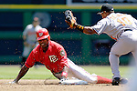 21 May 2006: Alfonso Soriano, outfielder for the Washington Nationals, is tagged out stealing second during a game against the Baltimore Orioles at RFK Stadium in Washington, DC. The Nationals defeated the Orioles 3-1 to take 2 of 3 games in their first inter-league series...Mandatory Photo Credit: Ed Wolfstein Photo..