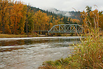 Autumn scene across the Coeur d'Alene River.