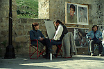 Street Artists and Subjects near Grand Masters' Palace, Rhodes, Greece