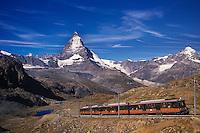 Gornergrat train at the Matterhorn