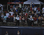 Ole Miss' Alex Yarbrough (2) hits a three run home run in the 7th inning vs. Mississippi State at Oxford-University Stadium in Oxford, Miss. on Thursday, May 12, 2011. Mississippi State won 7-6. (AP Photo/Oxford Eagle, Bruce Newman)