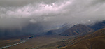 Stormy weather in the Ahuriri Valley. Canterbury. New Zealand.