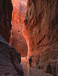 Backpacking through the Buckskin Gulch and Paria River slot canyons in Arizona and Utah