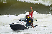 "BURLEIGH HEADS, Queensland/Australia (Saturday, 29 January, 2012) – Caio Ibelli (BRA) and Leila Hurst (HAW) have claimed the Men's and Women's ASP World Junior Titles at the Billabong World Junior Championships today. The pair join a prestigious list of former ASP World Junior Champions, including: Adriano De Souza (BRA), Joel Parkinson (AUS), Andy Irons (AUS), Jessi Miley-Dyer (AUS) and Sally Fitzgibbons (AUS). ..Wade Carmichael (AUS) and Alessa Quizon (HAW) were also amongst the winners today, taking out the third and final event of the ASP World Junior Title Series, the Billabong ASP World Junior Championships...The Men's ASP World Junior Title race saw all the frontrunners bow out early today with Jack Freestone (AUS) eliminated by Medi Veminardi (REU) and Ian Gouveia (BRA) taken out by Wade Carmichael (AUS) in the Quarterfinals. Carmichael had a sensational outing at Burleigh Heads this week, gaining entry into the event with a win at the Von Zipper trials and then sticking it to the world's best junior surfers with a win at the Billabong ASP World Junior Championships...Another frontrunner, Garrett Parkes (AUS), needed to advance out of today's Quarterfinals to clinch the 2011 ASP World Junior Title, but was halted by South American sensation Filipe Toledo (BRA). Parkes's ousting in the Quarterfinals resulted in a tie with Caio Ibelli (BRA) for the top spot on the ASP World Junior Title rankings, requiring a ""Surf-Off"" to determine the champion...Caio Ibelli (BRA) started the Surf-Off with a couple of minor scores, it was clear that he was going for something big. Garret Parkes (AUS) on the other hand started chipping away at the lead, posting some scores in the good range to give him an early lead. Ibelli found a wave that linked up and unleashed some solid carves and a massive air-reverse to score an 8.67 (out of a possible 10), to swing momentum his way and take the lead. Parkes had a last minute chance to claim the prestigious ASP World J"