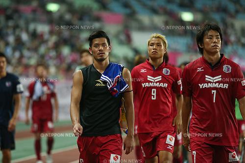 (L to R) <br /> Hotaru Yamaguchi, <br /> Ryo Nagai, <br /> Toru Araiba (Cerezo), <br /> JULY 19, 2014 - Football /Soccer : <br /> 2014 J.LEAGUE Division 1 <br /> between Cerezo Osaka 2-2 Yokohama F.Marinos <br /> at Yanmar Stadium Nagai, Osaka, Japan. <br /> (Photo by AFLO SPORT) [1205]