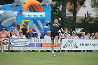 KAATSEN: BOLSWARD: 13-07-2014, Winnaars Jan Dirk de Groot, Dylan Drent en Hans Wassenaar (slaat de bal), ©foto Martin de Jong
