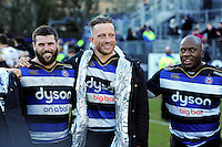 Max Lahiff of Bath Rugby looks on in a post-match huddle. Aviva Premiership match, between Bath Rugby and London Irish on March 5, 2016 at the Recreation Ground in Bath, England. Photo by: Patrick Khachfe / Onside Images