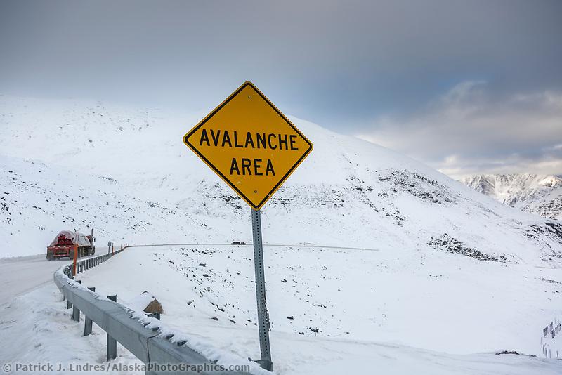 Atigun pass, James Dalton Highway, Arctic, Alaska.