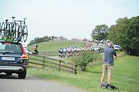 WIELRENNEN: BOLSWARD: 10-08-2015, De eerste etappe van de Eneco Tour met als start en finish in Bolsward werd gewonnen door Elia Viviani (ITA) van de Sky-ploeg, tweede werd Danny van Poppel (NED) de derde plek was voor Jean-Pierre Drucker (LUX), de etappe eindigde in een massasprint, onderweg bij Warns, ©foto Martin de Jong
