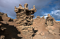 746000037 summer thunderstorm clouds form up over the hoodoos in fantasy canyon blm lands utah united states