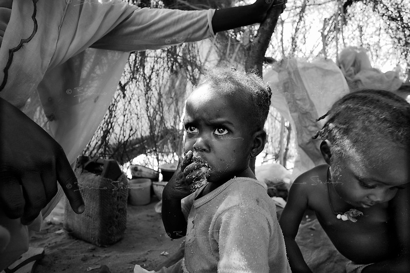 El Fasher, North Darfur, August 22, 2004.IDP's in Zamzam camp.