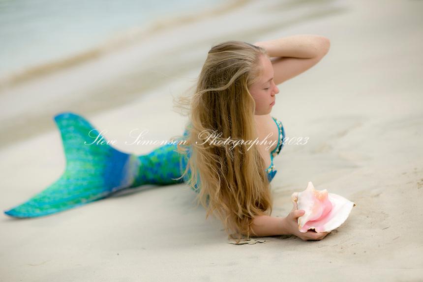 Mermaid at Maho Bay<br /> Virgin Islands National Park<br /> St. John<br /> US Virgin Islands