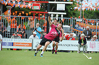 KAATSEN: HARLINGEN: 29-06-2014, Marten Feenstra, Pier Piersma, Martijn Olijnsma winnen, Marten Feenstra slaat uit, ©foto Martin de Jong