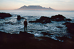 00029_13, Cape Town, Capetown, SOUTH_AFRICA-10010. A man looks at the sea.