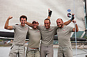 Extreme Sailing Series 2011. Act 9. Singapore.Luna Rosa celebrate after winning the regatta and the 2011 title.Credit: Lloyd Images.