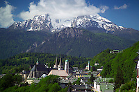Berchtesgaden, Bavaria, Germany, May 2006. The city of Berchtesgaden lies at the foot of Mt Watzman. The beauty of berchtesgadener Land lies in the spectacular mountain landscapes, combined with age old traditions and a welcoming culture. Photo by Frits Meyst/Adventure4ever.com