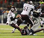 Texas A&amp;M quarterback Johnny Manziel (2) is tackled by Mississippi defensive back Mike Hilton (28) in Oxford, Miss. on Saturday, October 6, 2012. Texas A&amp;M won 30-27. (AP Photo/Oxford Eagle, Bruce Newman)..