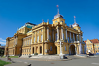 The Neo Baroque Croatian National Theatre,  Marshal Tito Square , Zagreb, Croatia