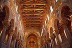Main Isle and altar wioth Byzantine mosaics  in the Cathedral of Monreale - Palermo - Sicily Pictures, photos, images &amp; fotos photography