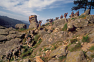 July, 1980, Calvi Area, Corsica, France. Training of the 2nd REP, Foreign Regiment of Paratroopers. They are based in Corsica and are trained for all kinds of combat.