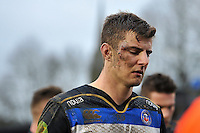 Ollie Devoto of Bath Rugby looks on. Aviva Premiership match, between Bath Rugby and Wasps on February 20, 2016 at the Recreation Ground in Bath, England. Photo by: Patrick Khachfe / Onside Images