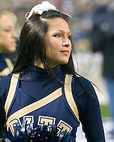 October 25, 2008: Pitt cheerleader. The Rutgers Scarlet Knights defeated the Pitt Panthers 54-34 on October 25, 2008 at Heinz Field, Pittsburgh, Pennsylvania.
