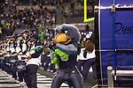 Seattle Seahawks mascot, Blitz, beats a drum during pre game activities before the Seahawks game against the Philadelphia Eagles at CenturyLink Field in Seattle, Washington on December 1, 2011. The Seahawks beat the Eagles 31-14. ©2011 Jim Bryant Photo. All Rights Reserved.
