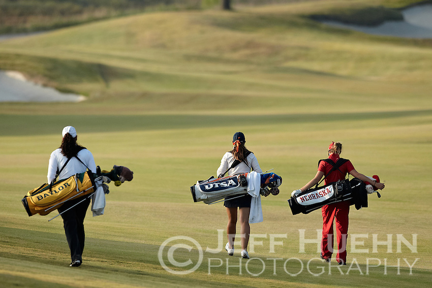 SAN ANTONIO, TX - NOVEMBER 1, 2011: The University of Texas at San Antonio Roadrunners host the Alamo Invitational Women's Golf Tournament at the Briggs Ranch Golf Club. (Photo by Jeff Huehn)