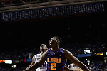 LSU forward Johnny O'Bryant III and UK forward Alex Poythress wait for a rebound during the first half of the men's basketball game vs. LSU at Rupp Arena, in Lexington, Ky., on Saturday, January 26, 2013. Photo by Genevieve Adams  | Staff.