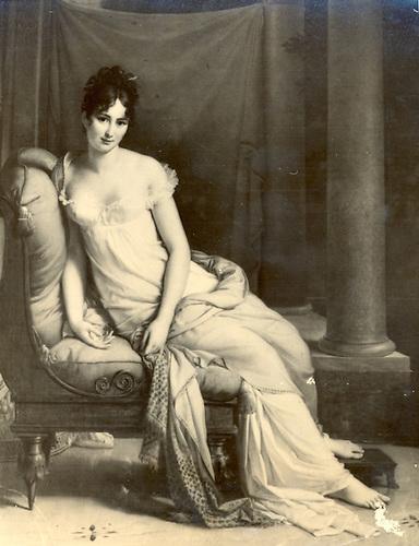 Madame Recamier (Baron Gerard). Photographie no. 4.736  Pages de France.