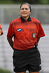 09 September 2011: Match referee Veronica Brito. The University of North Carolina Tar Heels defeated the University of North Carolina Greensboro Spartans 2-0 at Koskinen Stadium in Durham, North Carolina in an NCAA Division I Women's Soccer game.