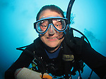 Orchid Island, Taiwan -- A happy scuba diver.