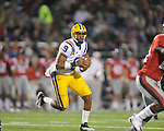 LSU quarterback Jordan Jefferson (9) vs. Ole Miss at Vaught-Hemingway Stadium in Oxford, Miss. on Saturday, November 19, 2011. (AP Photo/Oxford Eagle, Bruce Newman).