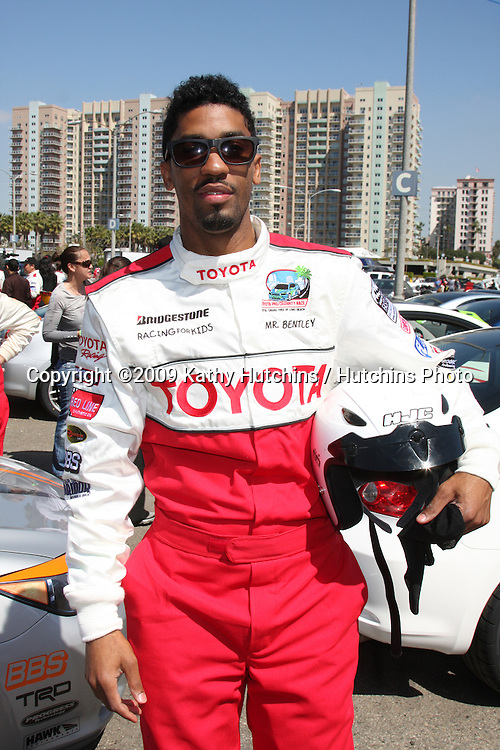 Fonzworth Bentley  at  the 33rd Annual Toyota Pro/Celeb Race Press Day at the Grand Prix track in Long Beach, CA on April 7, 2009.&copy;2009 Kathy Hutchins / Hutchins Photo....                .