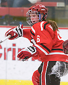 Kirsten Roach (St. Lawrence - 6) - The Harvard University Crimson defeated the St. Lawrence University Saints 8-3 (EN) to win their ECAC Quarterfinals on Saturday, February 26, 2011, at Bright Hockey Center in Cambridge, Massachusetts.