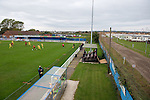 Concord Rangers 0 Hayes and Yeading United 3, 17/10/2015. Thames Road, Football Conference South. Concord Rangers in play host to Hayes and Yeading United in a Conference South League match. The match was won by the away side by 3 goals to 0. Thames Road Stadium is sandwiched between a caravan park and a gas works on Canvey Island. Photo by Simon Gill