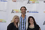 Bellmore, New York, USA. 16th July 2015. L-R, KORY DISKIN, Art Director; LUKAS HASSEL, actor; and DEBORAH MARKOWITZ, Nassau County Film Commissioner, are on the Red Carpet at the 18th Annual LIIFE Awards Ceremony, at the Bellmore Movies. Markowitz is the Director of of the Long Island International Film Expo.