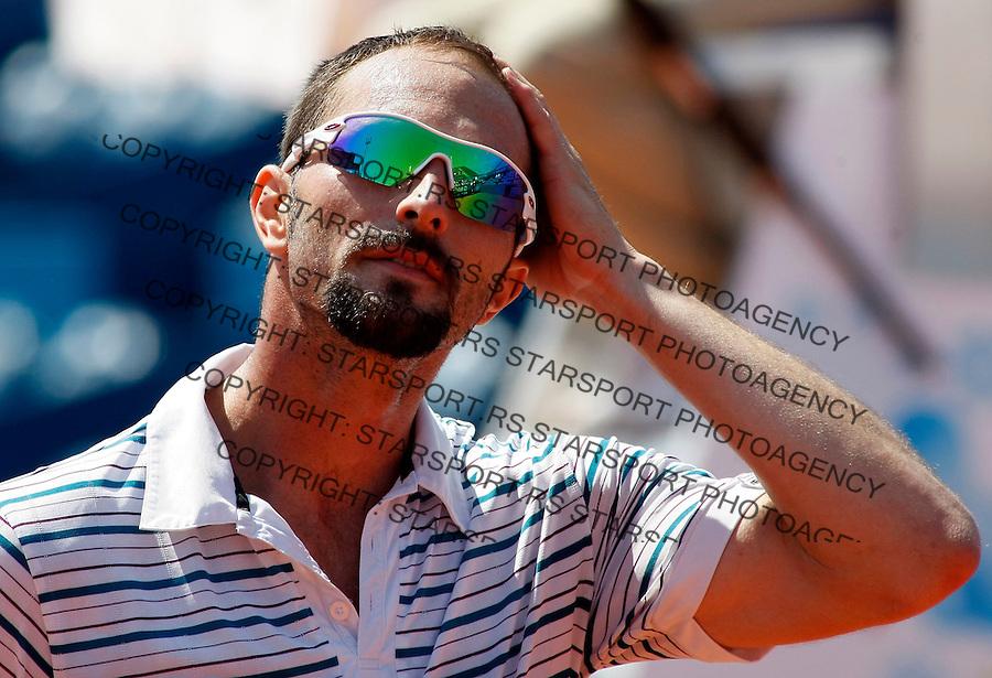 Tenis, .SERBIA OPEN 2010.Dusan Vemic Vs. Franko Skugor.Dusan Vemic.Belgrade, 01.05.2010..foto: Srdjan Stevanovic/Starsportphoto ©