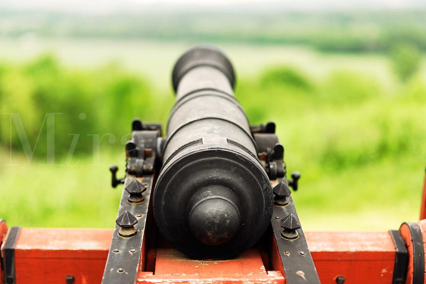 British cannon from Revolutionary War era, Saratoga National Historic Park, Stillwater, New York, USA