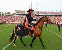 Sept. 3, 2011 - Charlottesville, Virginia - USA; Virginia Cavaliers Mascot rides his horse during an NCAA football game against William & Mary at Scott Stadium. Virginia won 40-3. ((Credit Image: © Andrew Shurtleff)