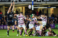 Lloyd Williams of Cardiff Blues box-kicks the ball. European Rugby Challenge Cup match, between Bath Rugby and Cardiff Blues on December 15, 2016 at the Recreation Ground in Bath, England. Photo by: Patrick Khachfe / Onside Images