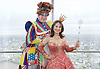 Dick Whittington <br /> publicity pictures <br /> taken from The View From The Shard, London Bridge Quarter, London, Great Britain <br /> press photocall <br /> 17th November 2016 <br /> <br /> <br /> Matthew Kelly as Sarah the Cook <br /> <br /> Arlene Phillips as Fairy Bowbells <br /> <br /> <br /> Photograph by Elliott Franks <br /> Image licensed to Elliott Franks Photography Services