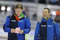 SPEED SKATING: CALGARY: Olympic Oval, 08-03-2015, ISU World Championships Allround, Peter Kolder en Jan van Veen, ©foto Martin de Jong