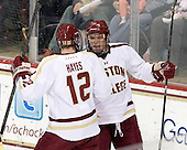 [headline} - The Boston College Eagles tied the visiting Yale University Bulldogs 3-3 on Friday, January 4, 2013, at Kelley Rink in Conte Forum in Chestnut Hill, Massachusetts.
