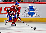 21 September 2009: Montreal Canadiens' center Scott Gomez (91) in action during a pre-season game against the Pittsburgh Penguins at the Bell Centre in Montreal, Quebec, Canada. The Canadiens edged out the defending Stanley Cup Champions 4-3. Mandatory Credit: Ed Wolfstein Photo